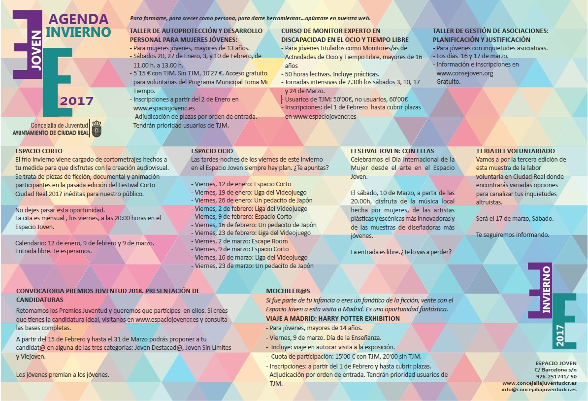 La Agenda Joven de Invierno incorpora un Festival Joven para ...