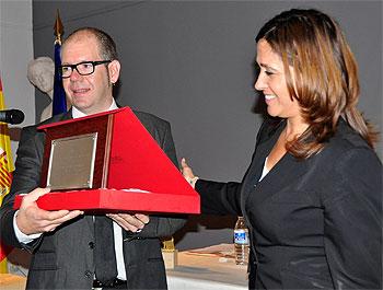 Rosa Romero en el homenaje a la Escuela de Arte Pedro Almodóvar